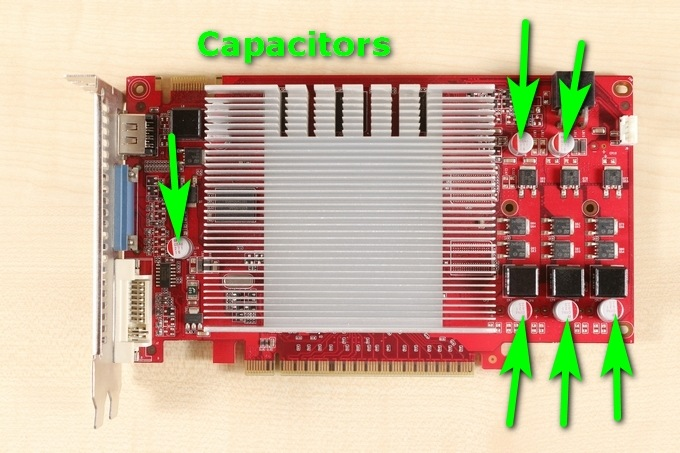 Capacitors on graphics card