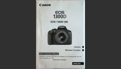 Canon EOS 1300D Basic Instruction User Manual Original