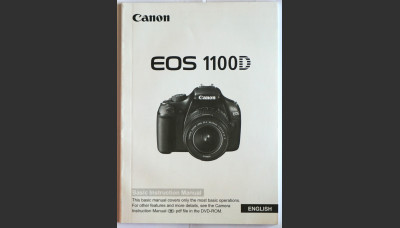 Canon EOS 1100D Basic Instruction Manual in English Original