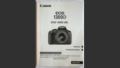 Canon EOS 1300D Basic Instruction User Manual German  Original