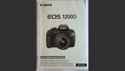 Canon 1200D User Manual in German Original