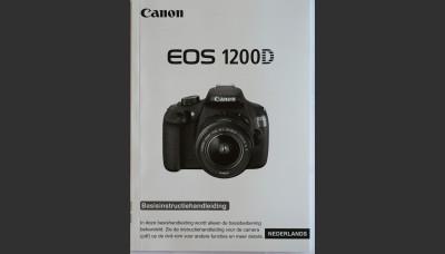 Canon 1200D Manual in Dutch. Original