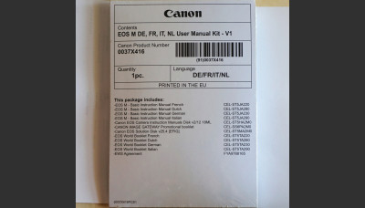 Canon EOS M User Manual New Original