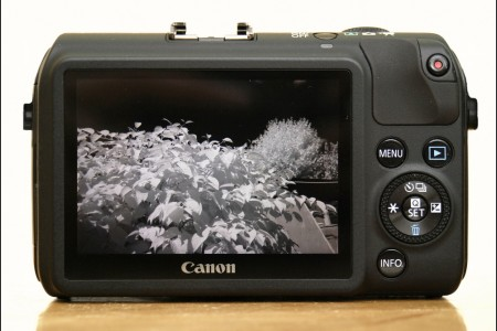 Infrared 720nm Modified Canon EOS M With R72 Hoya Filter